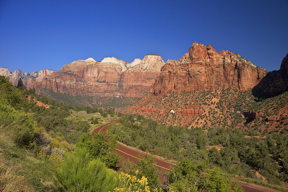 Zion-Mount Carmel Highway, Zion National Park, Utah, United States of America, North America