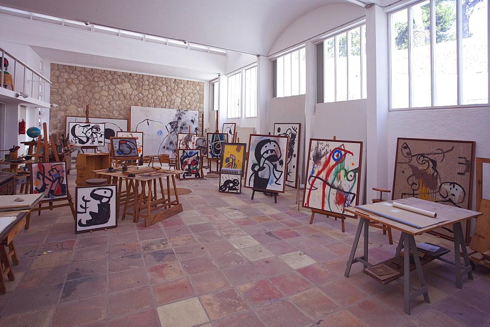 Joan Miro's studio at Fundacio Pilar i Joan Miro, Cala Major, Majorca, Balearic Islands, Spain, Europe