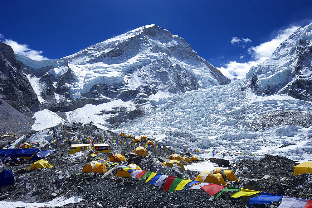 Khumbu icefall from Everest Base Camp, Solukhumbu District, Sagarmatha National Park, UNESCO World Heritage Site, Nepal, Himalayas, Asia