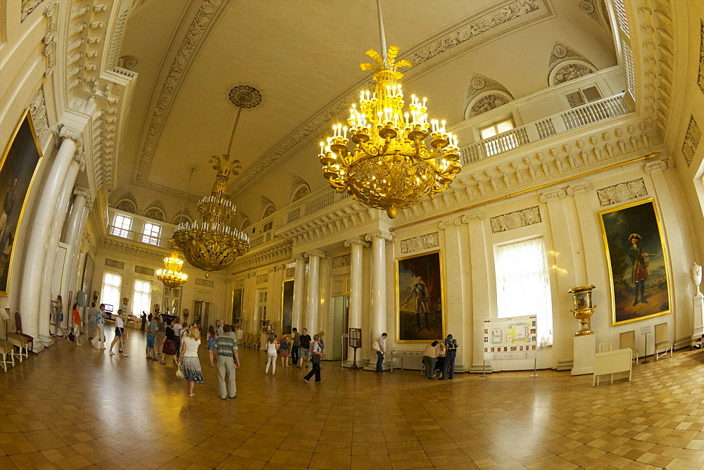 Interior of the Winter Palace, State Hermitage Museum, Winter Palace, St. Petersburg, Russia, Europe