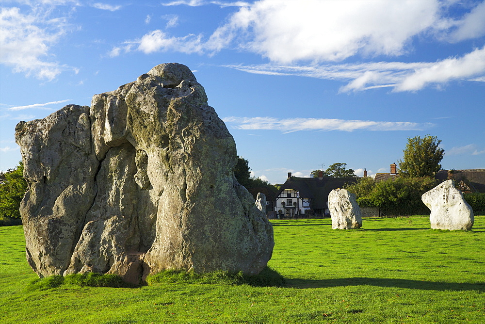 Megalithic stone circle, Avebury, UNESCO World Heritage Site, Wiltshire, England. United Kingdom, Europe