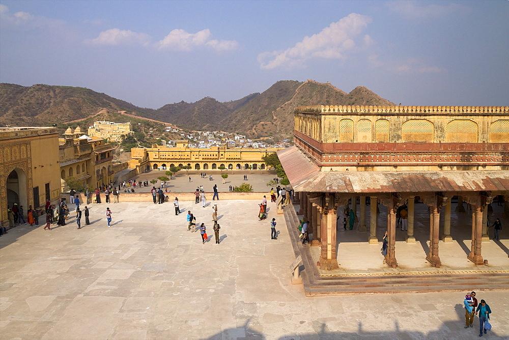 Hall of Public Audience (Diwan-e-Khas), Amber Fort Palace, Jaipur, Rajasthan, India, Asia
