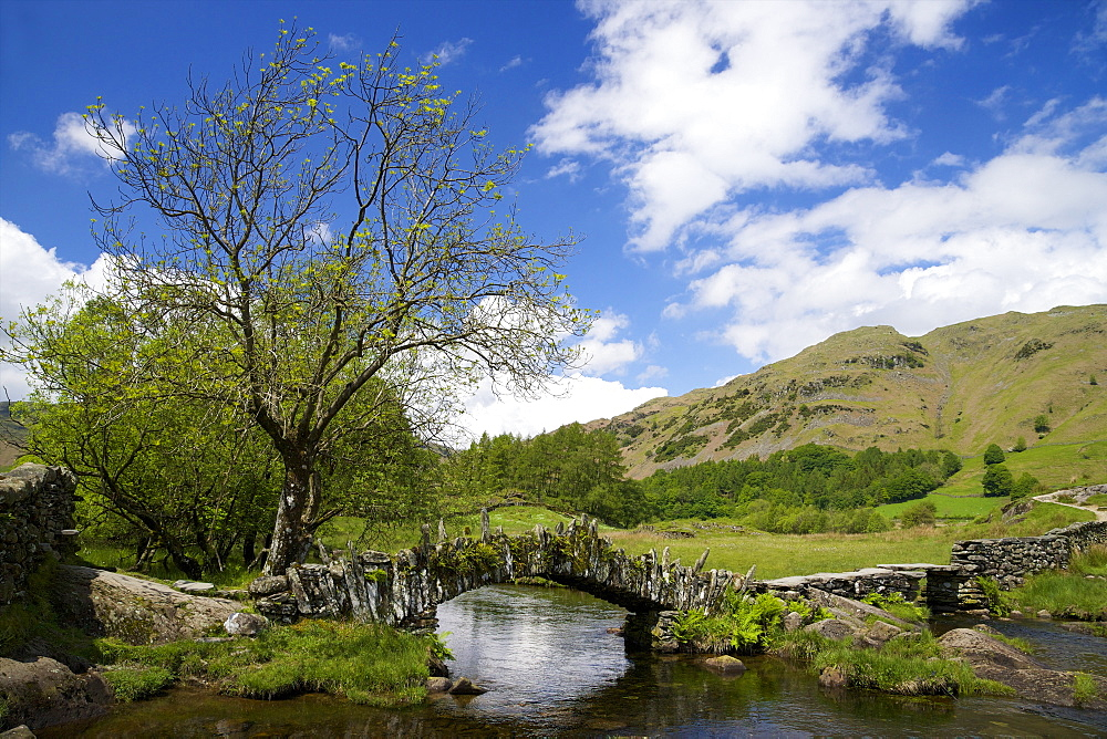 Slater's Bridge, Little Langdale, Lake District National Park, Cumbria, England, United Kingdom, Europe - 831-1456