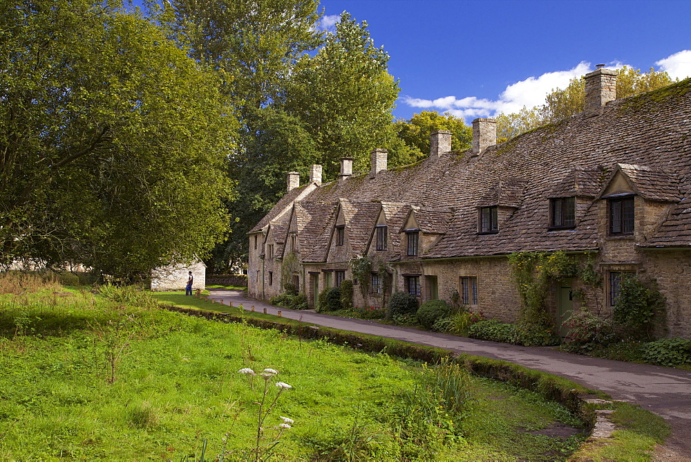 Arlington Row, Bibury, Cotswolds, Gloucestershire, England, United Kingdom, Europe - 831-1464