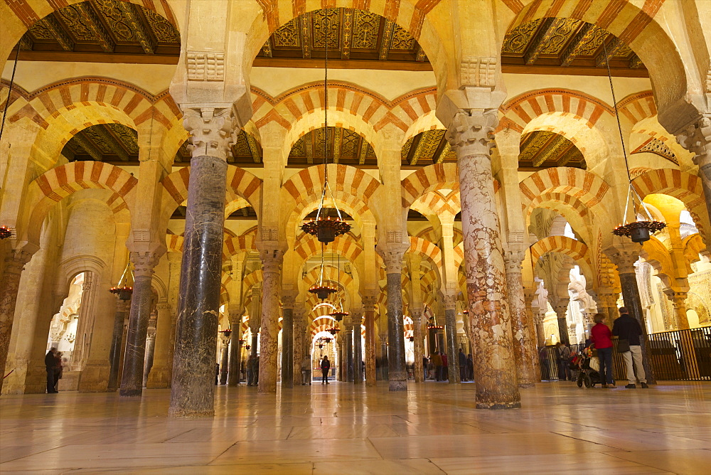 Interior of Mezquita (Great Mosque) and Cathedral, UNESCO World Heritage Site, Cordoba, Andalucia, Spain, Europe - 831-1470
