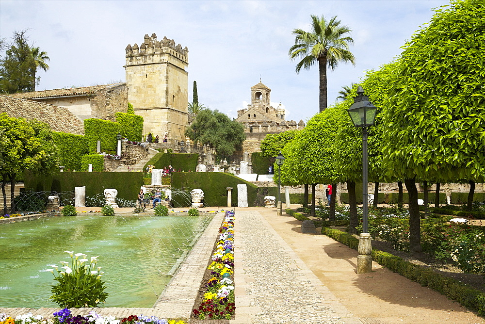 Gardens in Alcazar, Cordoba, Andalucia, Spain, Europe - 831-1474