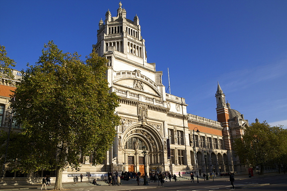 Main entrance, Victoria and Albert Museum, South Kensington, London, England, United Kingdom, Europe - 831-1478