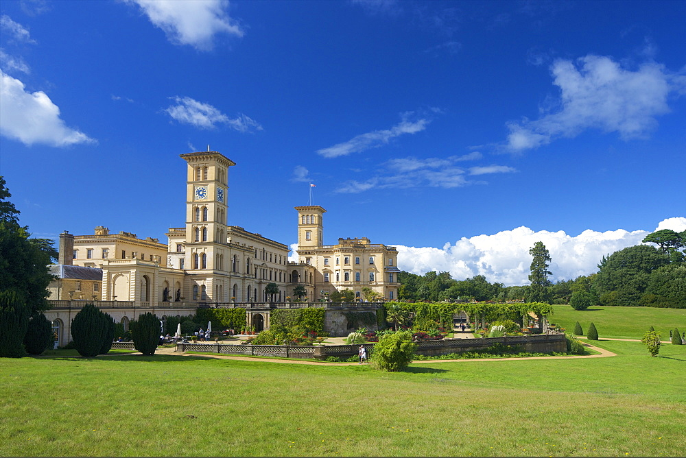 Osborne House, former royal residence, built 1845-1851 for Queen Victoria and Prince Albert, East Cowes, Isle of Wight, England, United Kingdom, Europe - 831-1488