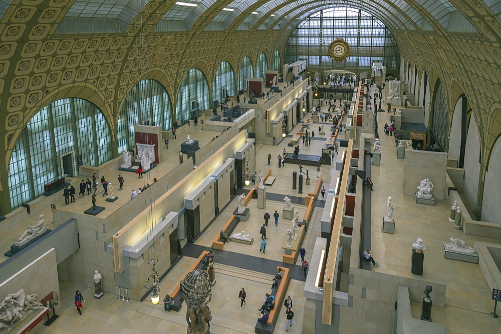 Interior of Musee D'Orsay Museum and Art Gallery, Paris, France, Europe - 831-1509