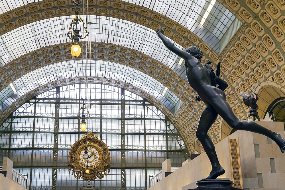 Interior of Musee D'Orsay Art Gallery, Paris, France, Europe - 831-1514