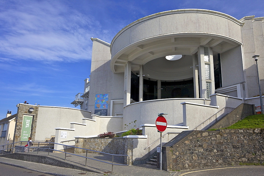 Tate Gallery in summer sunshine, St. Ives, Cornwall, England, United Kingdom, Europe