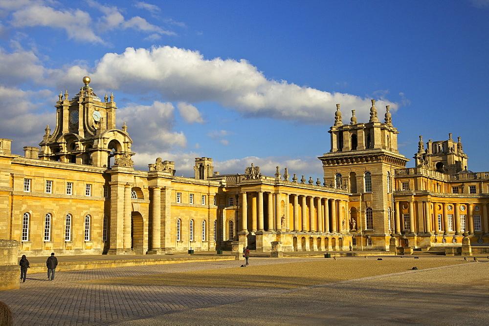 Great Court of Blenheim Palace, UNESCO World Heritage Site, Woodstock, Oxfordshire, England, United Kingdom, Europe