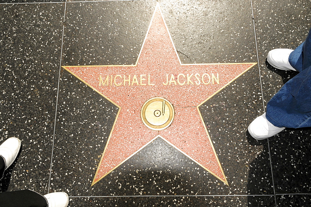 Walk of Fame, MICHAEL JACKSON, Hollywood Boulevard, Los Angeles, California, USA