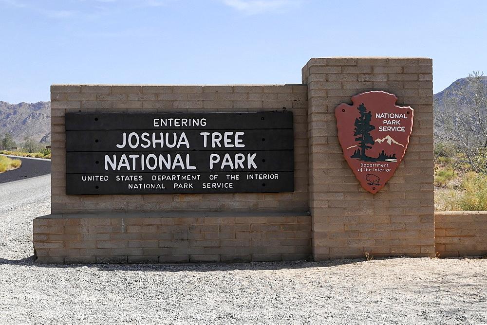 Entrance, Joshua Tree National Park, Palm Desert, Southern California, USA