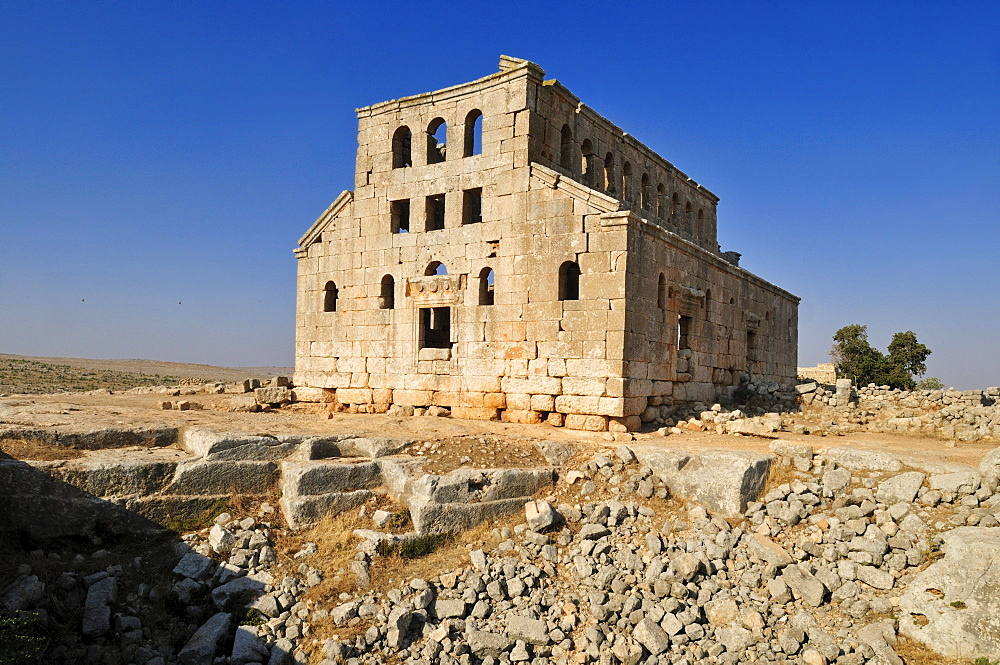 Ruin of the Byzantine church of Mshabak near Aleppo, Dead Cities, Syria, Middle East, West Asia