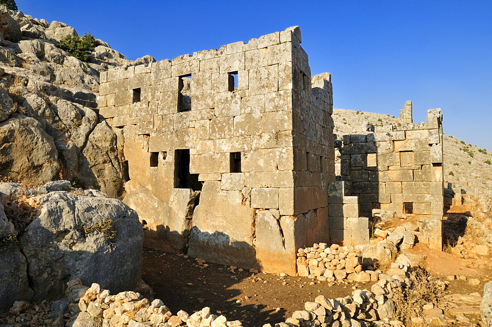 Ruin of the Byzantine monastery of Breigh, Dead Cities, Syria, Middle East, West Asia