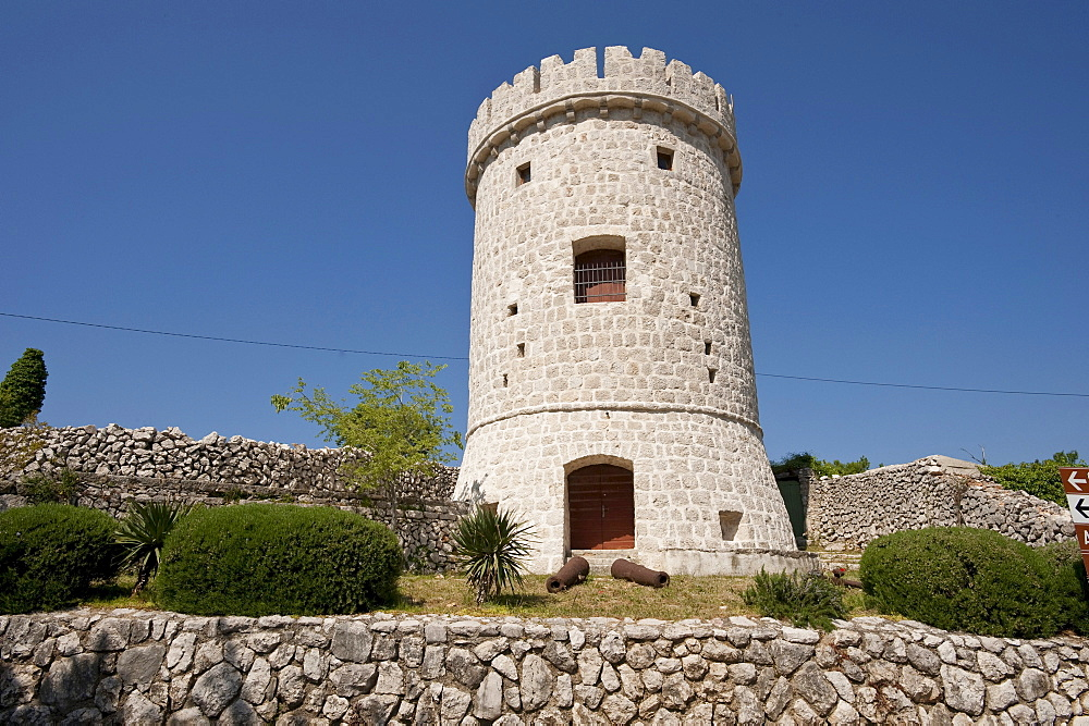 Defence tower, Cres, Cres Island, Croatia, Europe