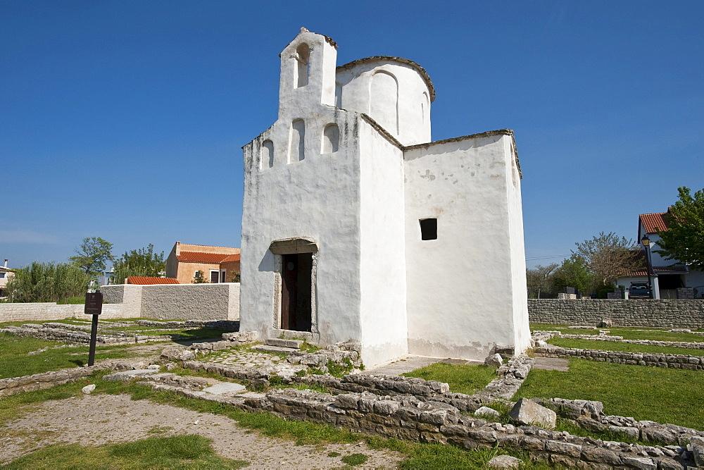 Church of the Holy Cross, Nin, Zadar County, Croatia, Europa