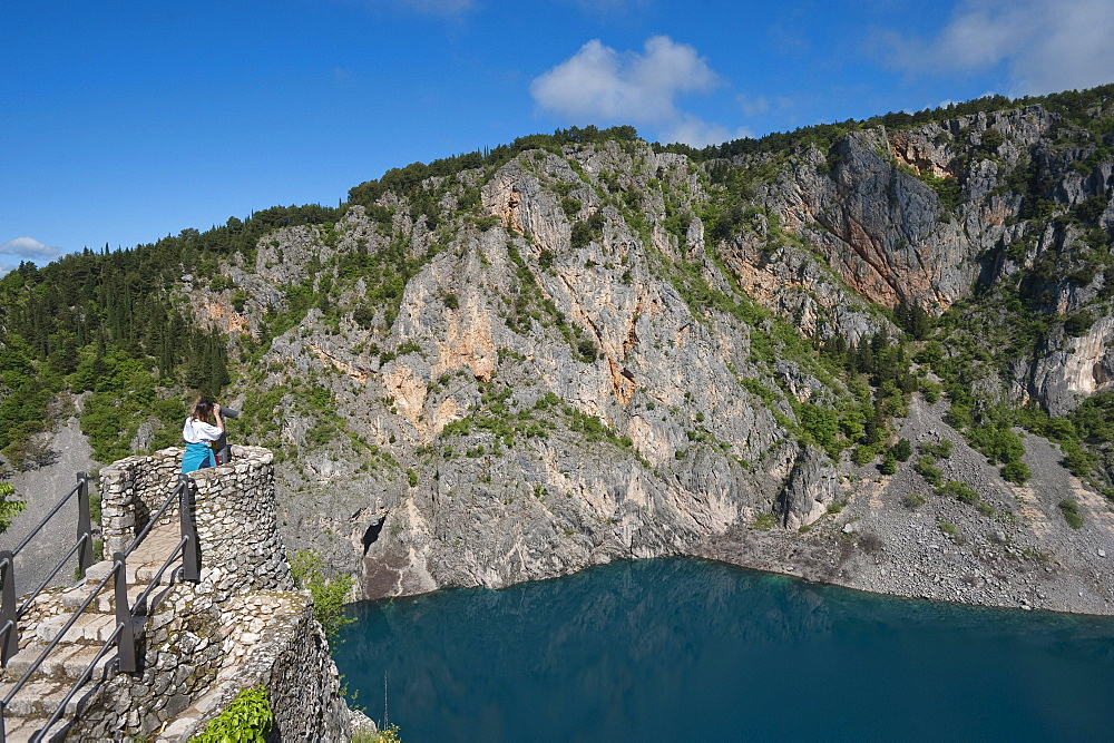 Modro Jezero, Blue Lake, Imotski, County of Split-Dalmatia, Croatia, Europe