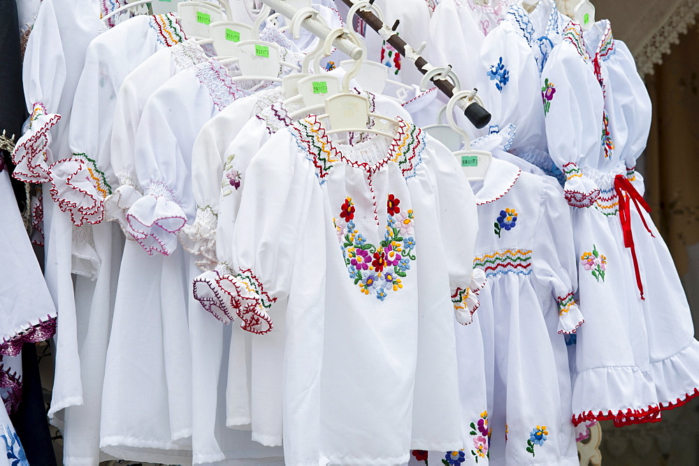 Folklore blouses, Tihany, Hungary, Europe