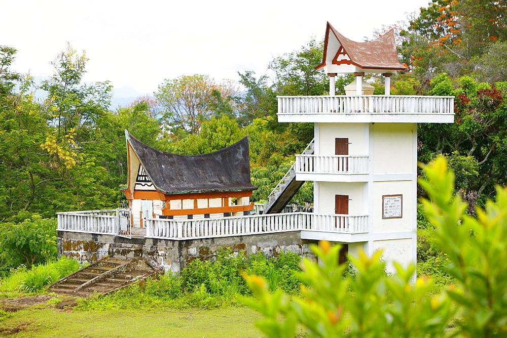 Tomb, Batak culture, Samosir island, Lake Toba, Batak region, Sumatra, Indonesia, Asia