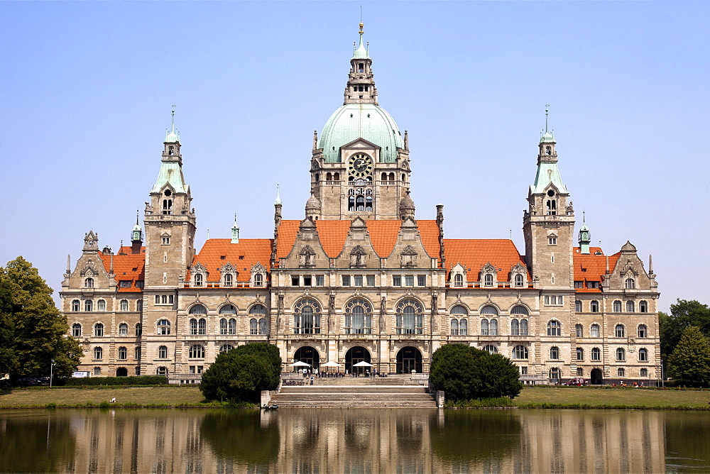 Neues Rathaus, new town hall, Hannover, Lower Saxony, Germany, Europe