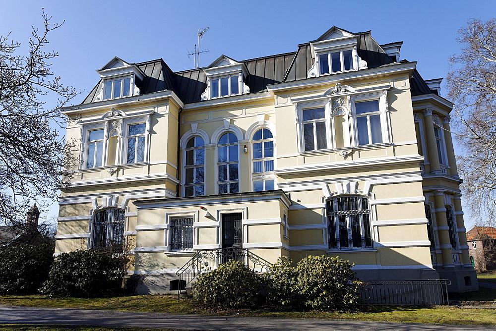 Villa of the Industrialist Oskar Erckens, now a museum, Grevenbroich, Niederrhein, North Rhine-Westphalia, Germany, Europe