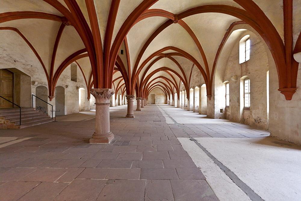 The old dormitory of Kloster Eberbach Abbey, Eltville am Rhein, Rheingau, Hesse, Germany, Europe