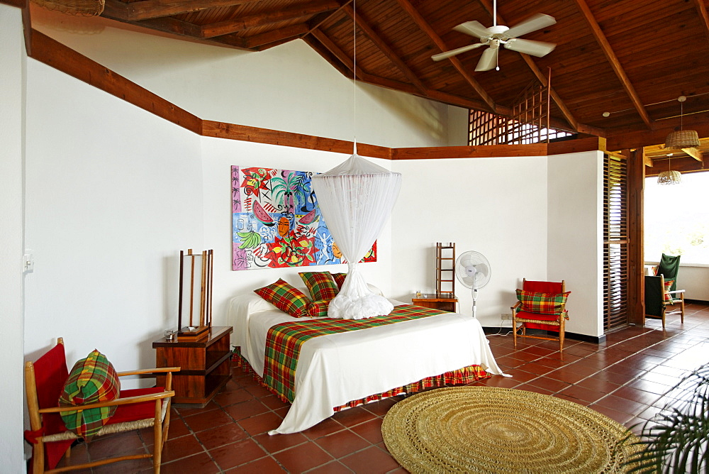 Hotelroom with original art by Stefan Szcesny, Luxury Hotel Anse Chastanet Resort, LCA, St. Lucia, Saint Lucia, Island Windward Islands, Lesser Antilles, Caribbean, Caribbean Sea