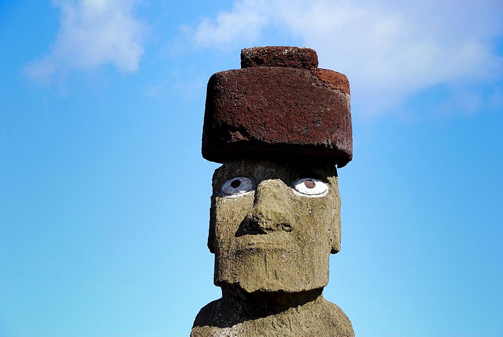 Moai, in Ahu Tahai, near Hanga Roa, Easter Island, Rapa Nui, Pacific