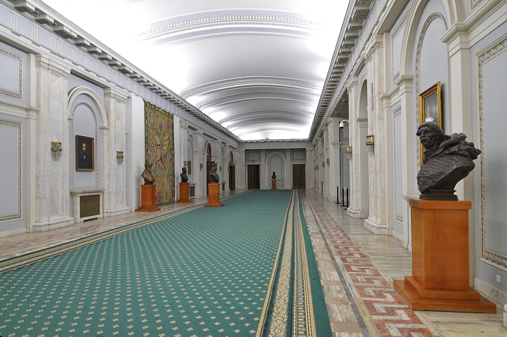 Interior, Parliament Palace, Bucharest, Romania, Europe