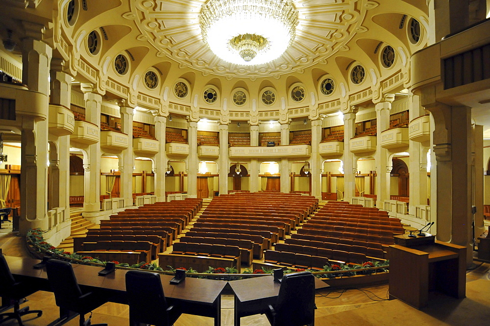 Theater, interior, Parliament Palace, Bucharest, Romania, Europe