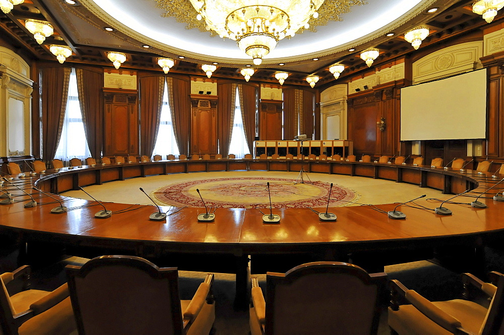 Human Rights Room, interior, Parliament Palace, Bucharest, Romania, Europe