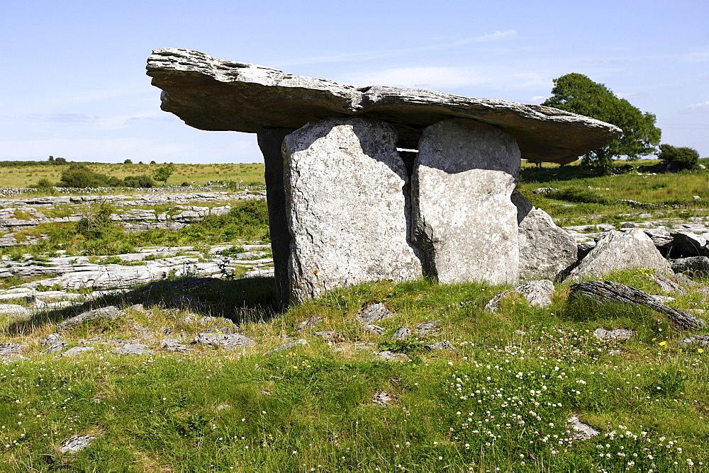 The portal tomb, The Burren, Republic of Ireland, Europe