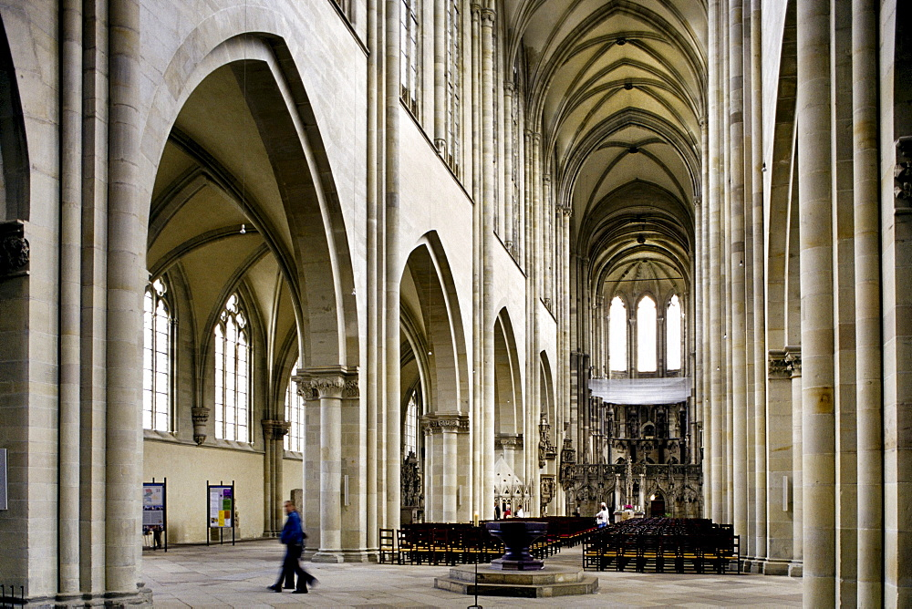 Interior, cathedral, Magdeburg, Saxony-Anhalt, Germany, Europe