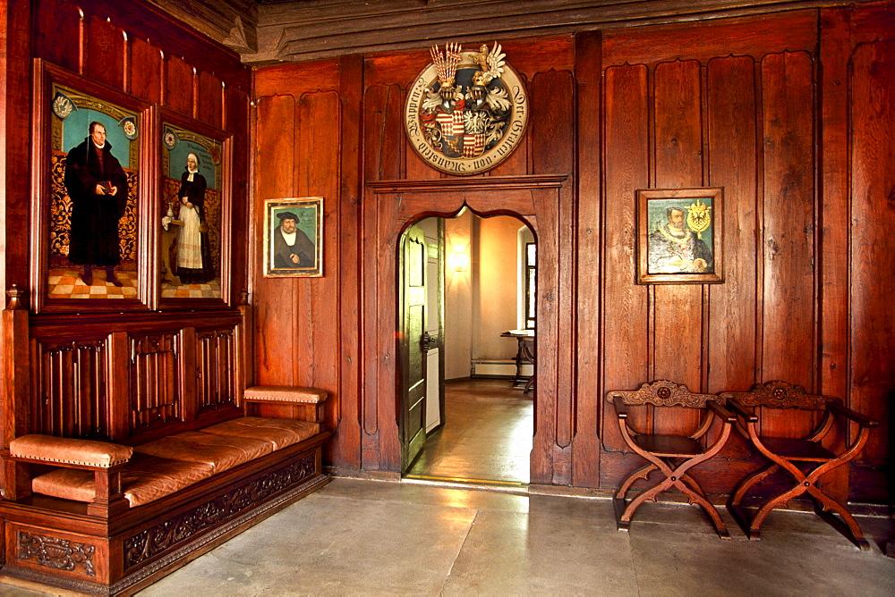 Death room, Martin Luther, Lutherstadt Eisleben, Mansfelder Land district, Saxony-Anhalt, Germany, Europe