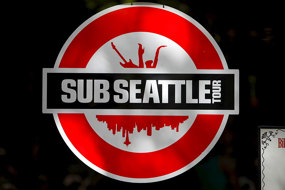Sub Seattle, logo, underground tour event, Seattle, Washington, USA