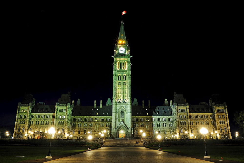 The government buildings in Ottawa, Ontario, Canada