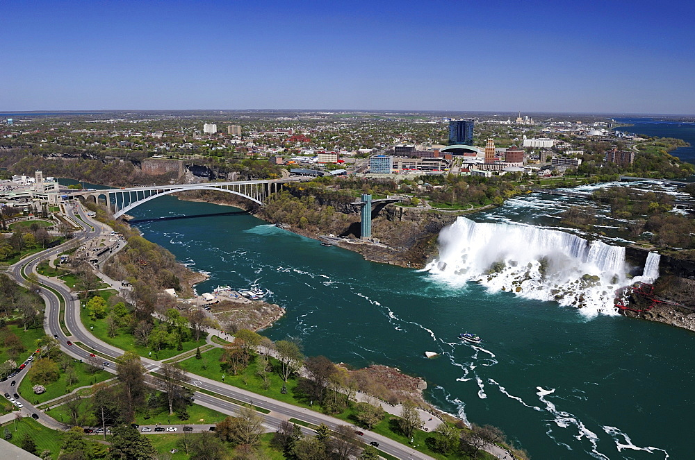 Niagara Falls with a view of the Americans side from Ontario, Canada