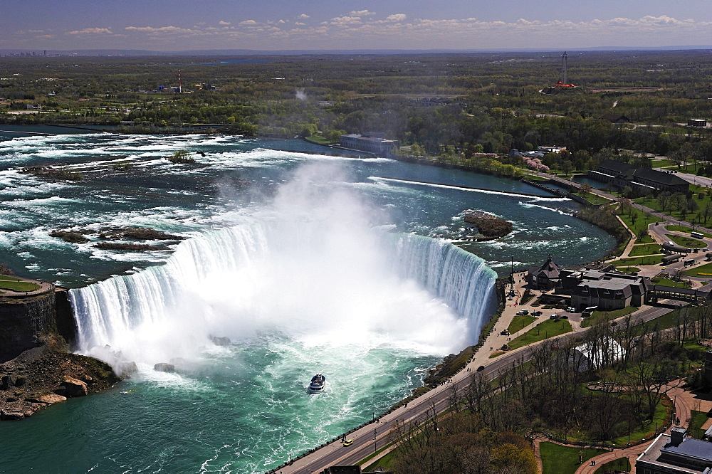 Niagara Falls seen from the Skylon Tower, Ontario, Canada