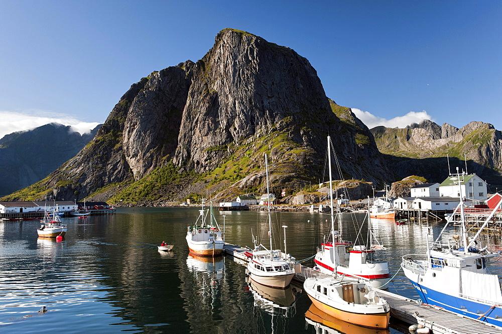 Fishing boats, Hamnoy, Lofoten, Norway, Scandinavia, Europe