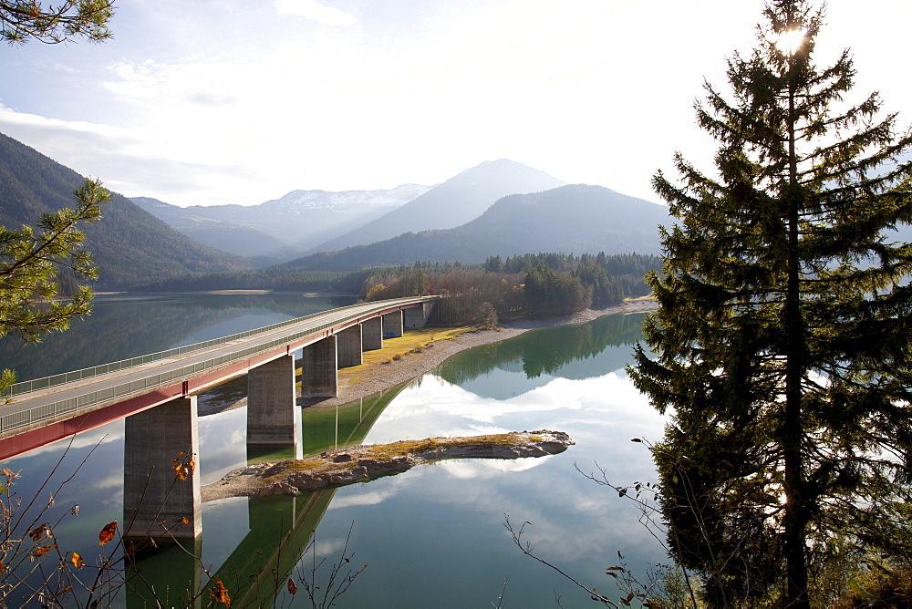 Sylvenstein Reservoir, Lenggries, Bavaria, Germany, Europe