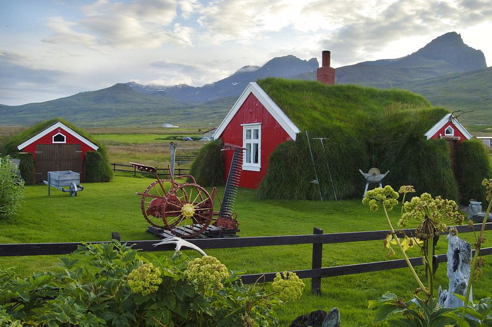 The house called Lindarbakki in the village Bakkagerdi Iceland