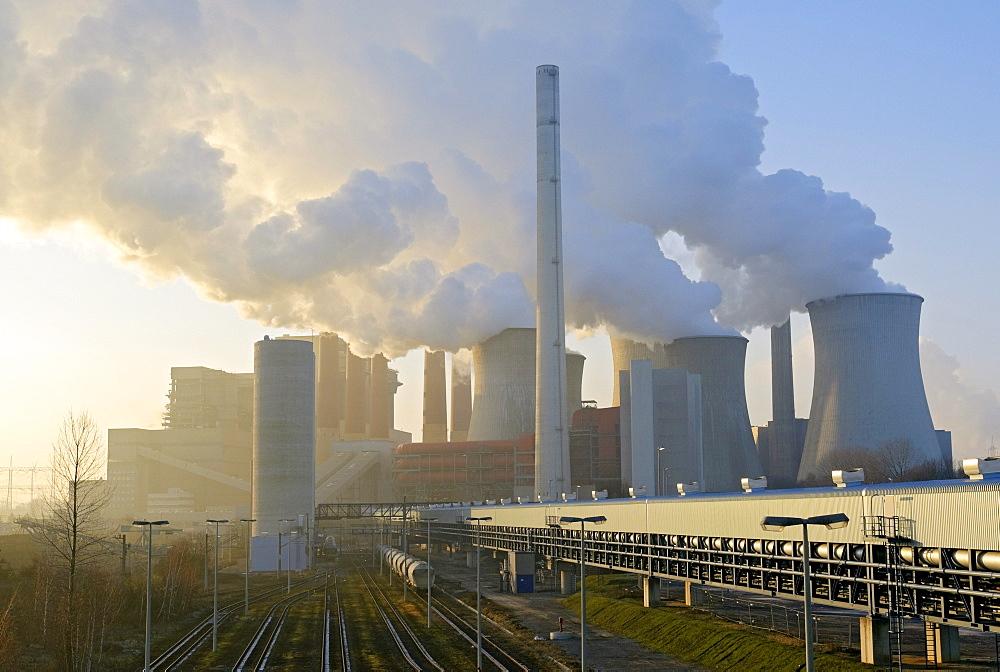 Neurath lignite power station, Grevenbroich, North Rhine-Westphalia, Germany, Europe