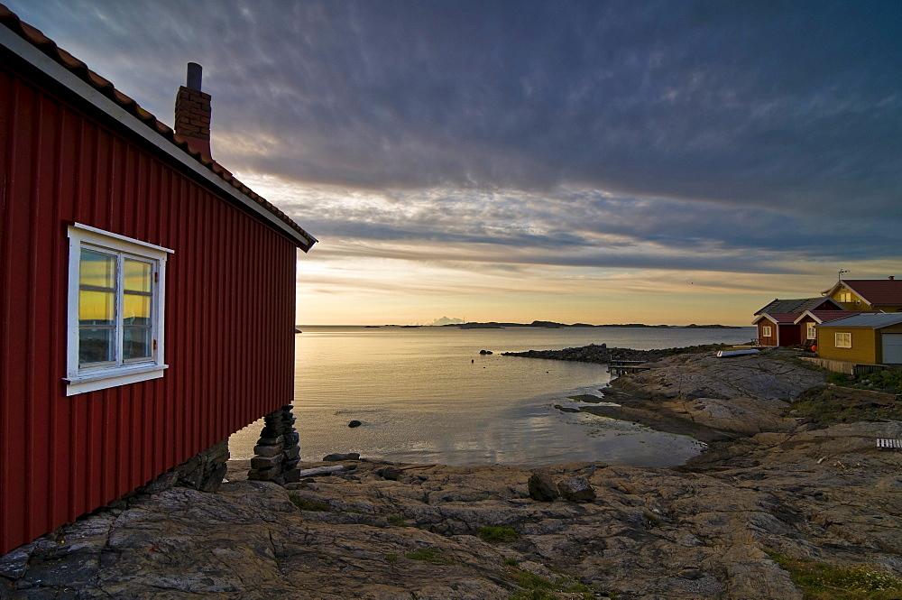 Wooden house near Smoegen, Bohuslaen, Sweden, Europe