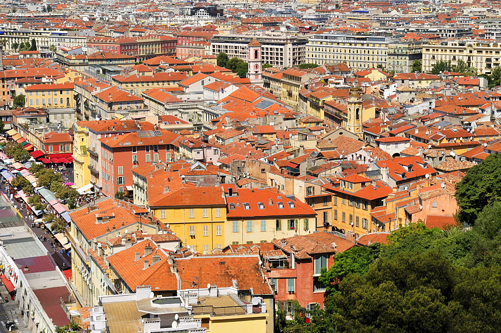 View over Nice, Nizza, Alpes Maritimes, Provence, France, Europe