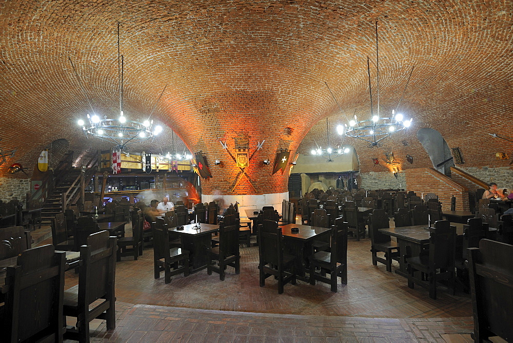 Restaurant in the former powder storage room of the fortress of Alba Julia, Karlsburg, Romania, Europe