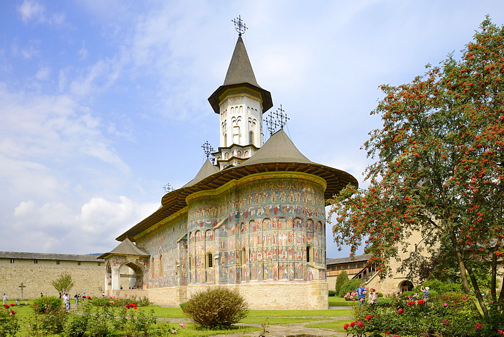 Sucevita Monastery, a painted monastery of northern Moldavia, Romania, Europe
