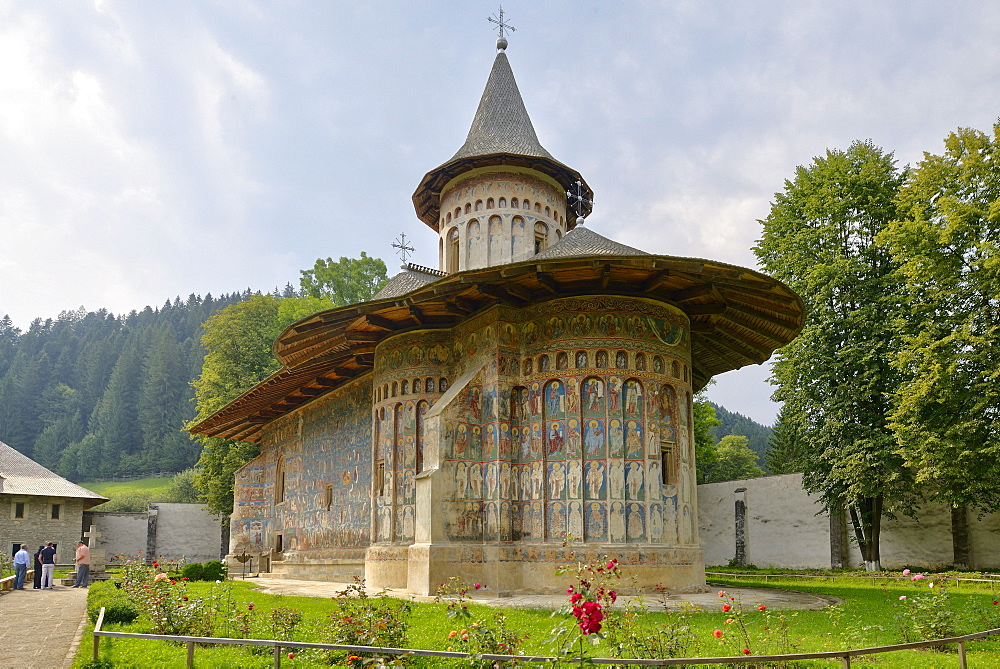 Voronet Monastery, a painted monastery of northern Moldavia, Romania, Europe