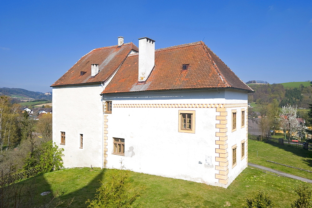 Rectory in a former Gothic tower, Bad Schoenau, Bucklige Welt, Lower Austria, Austria, Europe